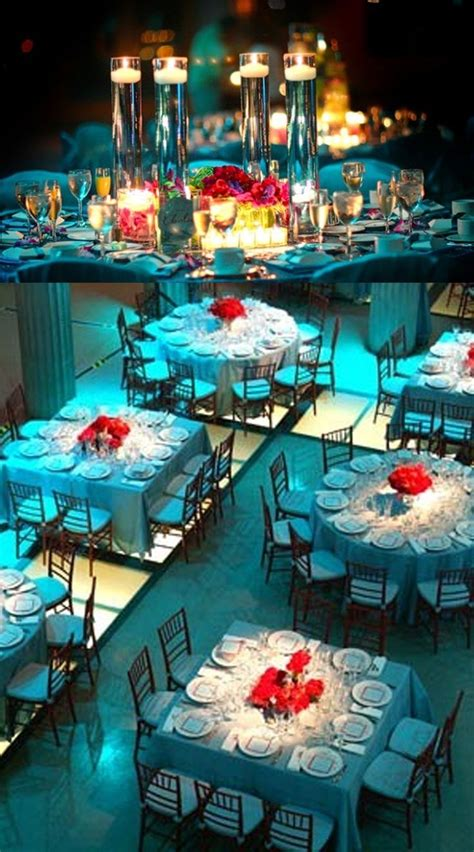 Aqua With Red Reception Aquateal And Red Wedding Ideas