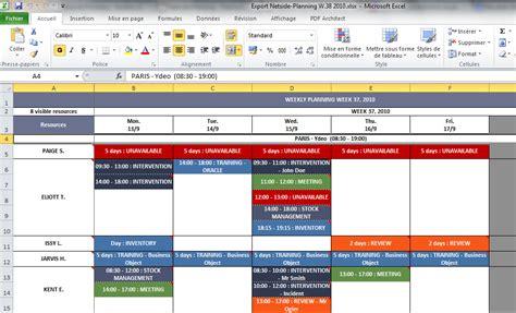 modèle planning hebdomadaire excel gratuit planification d entreprise netside planning