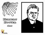 Hoover Presidents Herbert President Yescoloring Printables Coloring Pages Prestigious sketch template