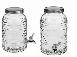 Einmachglas 5 Liter : glas getr nkespender tiki style einmachglas mit metallschraubverschluss f r ca 3 5 liter h ~ Orissabook.com Haus und Dekorationen