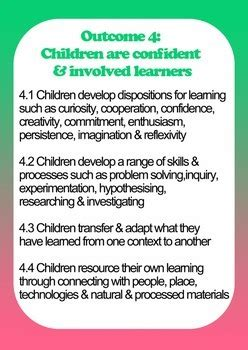 posters documents early years learning framework eylf