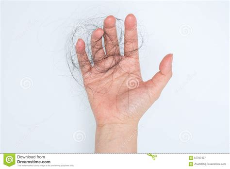 Hair Loss In Woman Hand Stock Photo Image 57707407
