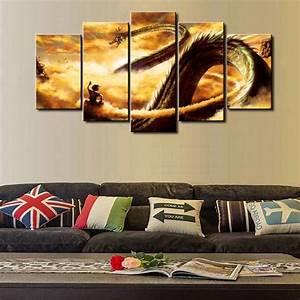 DBZ New Hot Sel 5 Piece Modular Home Decor Wall Art Dragon ...
