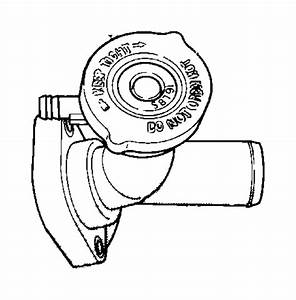 2006 Chrysler Pt Cruiser Connector  Water Outlet  Engine