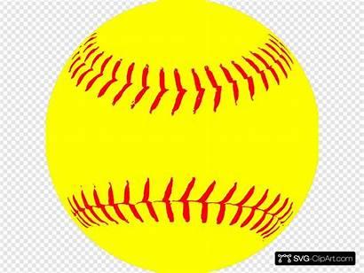 Svg Softball Yellow Clipart Clip