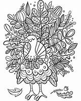 Thanksgiving Coloring Pages Turkey Printable Sketch Flowers Company Enjoy sketch template