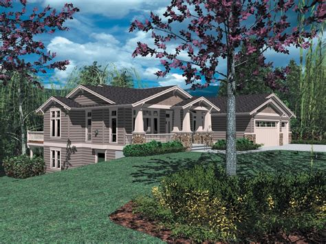 Sloping Lot Craftsman Classic 6939AM Architectural