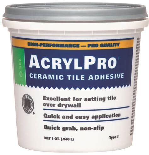 acrylpro ceramic tile adhesive coverage acrylpro arl4000qt ceramic tile adhesive 1 qt pail