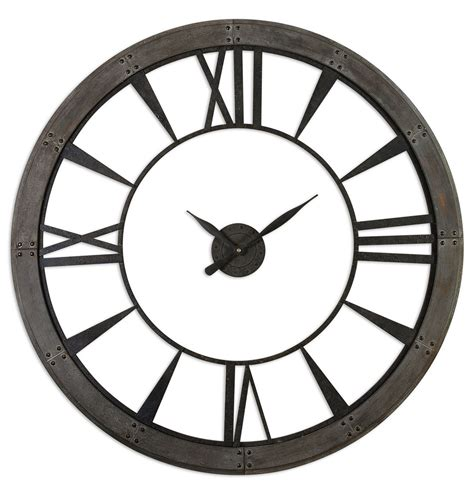 Uttermost Wall Clocks by Uttermost Ronan Wall Clock Large Uttermost 06084 At