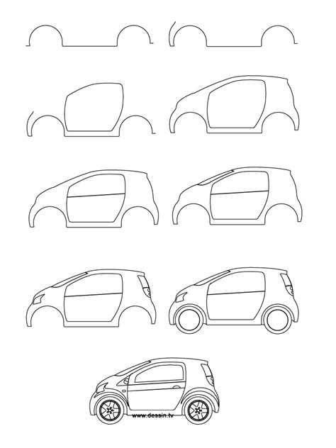 How To Draw A Car Step By Step With Pictures by Drawing Small Car