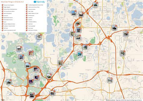 orlando printable tourist map  tourist maps