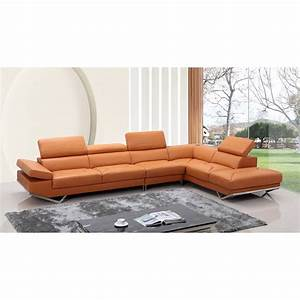 divani casa quebec sectional sofa orange dcg stores With sectional sofas quebec