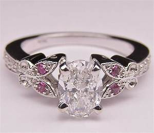 engagement ring oval diamond butterfly from mdc diamonds With butterfly wedding rings