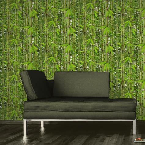 papier peint papier bambouseraie vert leroy merlin
