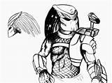Predator Coloring Kleurplaat Bionicles Predalien Kleurplaten Alien Vs Boys Power Konabeun Zum Uteer Salvo Predador sketch template