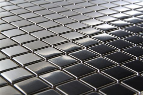 stainless steel mosaic square metal 3 4 quot x 3 4 quot mosaic stainless steel tile