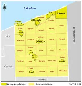 Ashtabula County Ohio Map