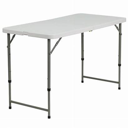 Table Folding Adjustable Height Plastic Fold Rectangular