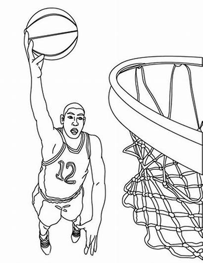 Basketball Coloring Nba Pages Player Durant Kevin