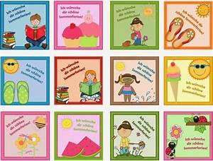 Herzlich Willkommen Bilder Zum Ausdrucken : noch mehr k rtchen f r die sommerferien von jacmo jacmo hat noch einen weiteren satz k rtchen ~ Eleganceandgraceweddings.com Haus und Dekorationen
