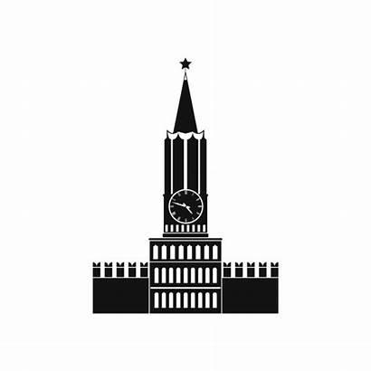 Illustration Burj Khalifa Dubai Flat Moscow Kremlin