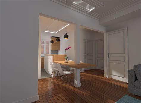 idee cuisine americaine appartement rnovation dco appartement parisien boulevards des