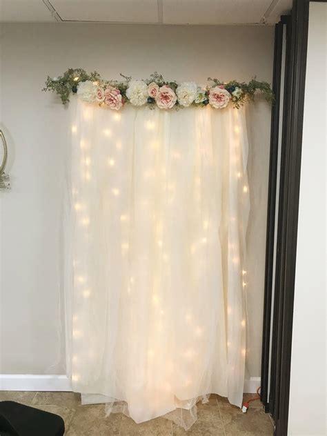 Diy Backdrop Ideas by Diy Lit Tulle Backdrop Ligo Birthday Diy Wedding