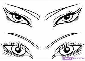 How to Draw Girls Eyes, Step by Step, Eyes, People, FREE ...