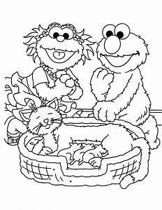 Sesame Street Coloring Pages sesame street coloring pages ...