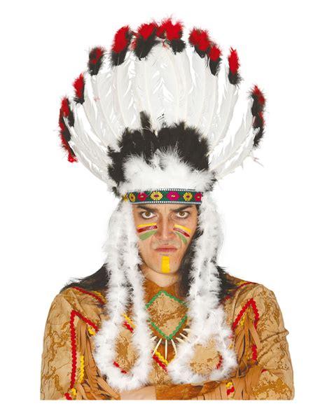 karneval kostüme indianer indianer kopfschmuck mit federn kopfbedeckung f 252 r h 228 uptlinge karneval universe