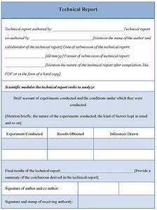 technical report template best letter sample With technical service report template