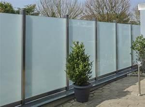 schutzwand 02 metallbau heiner dressrusse gmbhmetallbau With französischer balkon mit glaswand sichtschutz garten