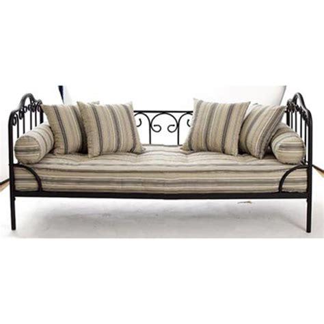 canapé fer forgé ikea banquette matelas capitonné lit enfant futon vasp