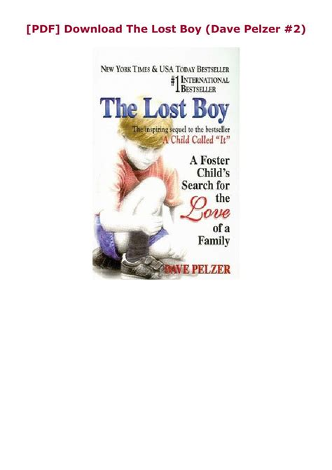 [PDF] Download The Lost Boy (Dave Pelzer #2) in 2020 ...