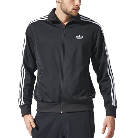 adidas s firebird track jacket black white originals