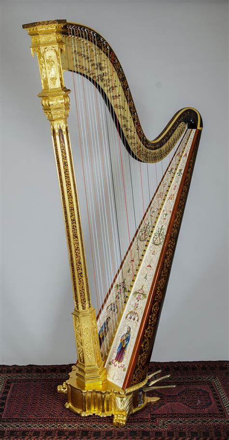 what is a l harp ornate double action gothic harp by r l lewis new york