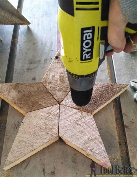 rustic patchwork wood stars  tool belt