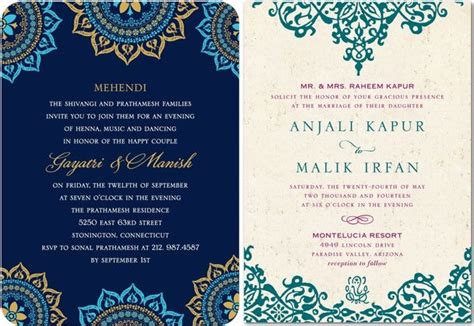 Indian Wedding Invitations Indian Wedding Invitations For