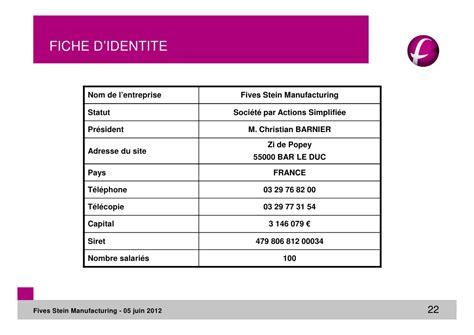 fiche d entreprise modèle pr 233 sentation fsm mode de compatibilit 233
