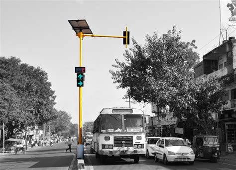 solar wireless traffic light system traffic lights