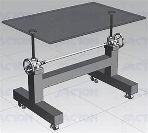 Industrial Design Manual Screw Jack Adjustable Iron Crank