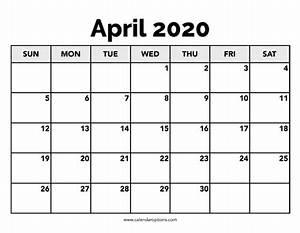 2020 calendar templates with holidays calendar april 2020 calendar options