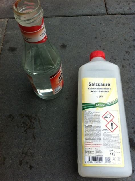 Salzsäure Gegen Kalk by Kalkausbl 252 Hungen Auf Terrassenplatten Hilft Salzs 228 Ure