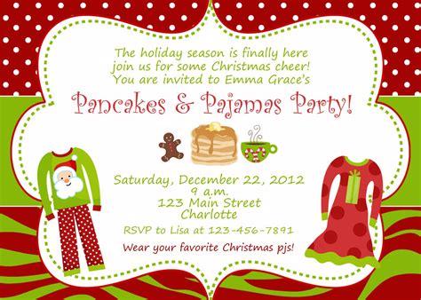 christmas pajama party invitations pajama invitations home ideas