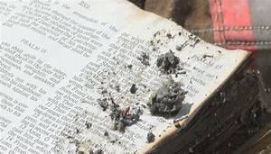 Family bible survives Tennessee house fire