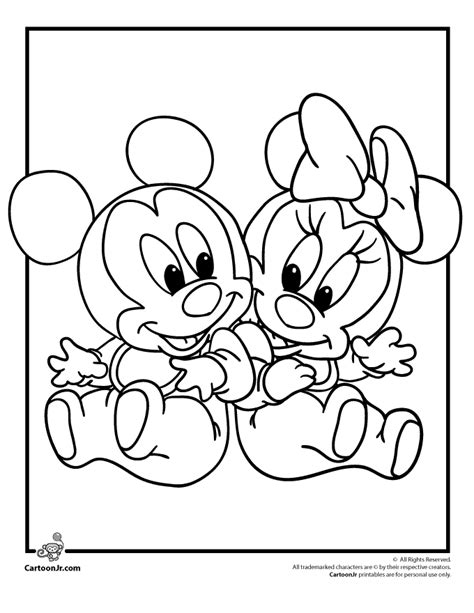 Baby disney coloring pages to download and print for free