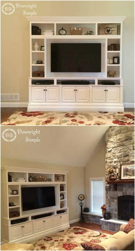 give  media center  diy makeover