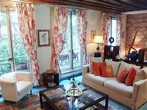 Paris, Apartment, Interior, Design, With, Appealing, Stone, Walls
