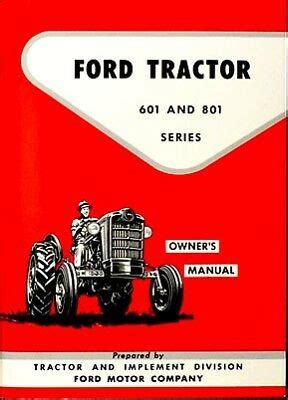 ford    tractor owners manual