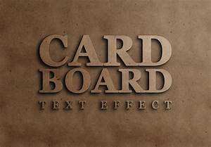 Cardboard Text Effect Free PSD Download